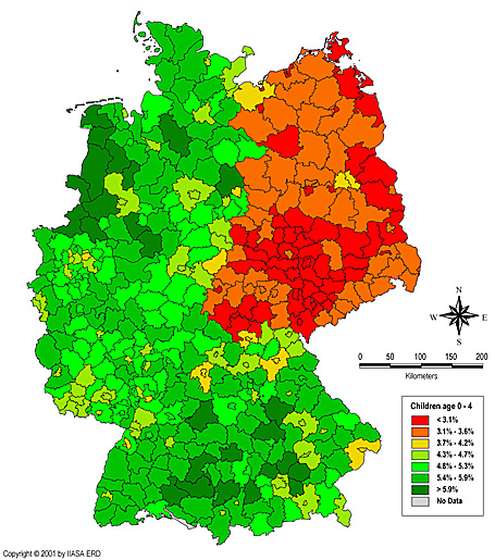 map of germany. Development Map - Germany: